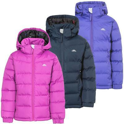 Trespass Girls Jacket Padded School Jackets Ages 2 - 12 Years Detachable Hood UK