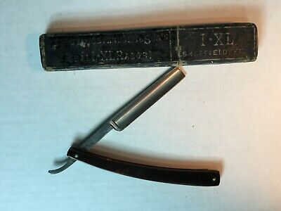 Vanadium For Barbers Straight Razor Antique Vintage George Wostenholm Sons Box 5
