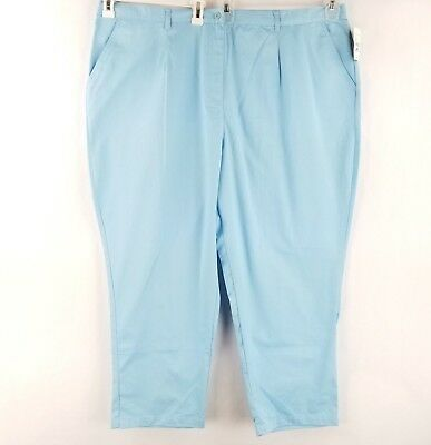 New DONNKENNY Womans Size 18,18S,18W,18WP Navy Blue Pull on Gabardine Pants