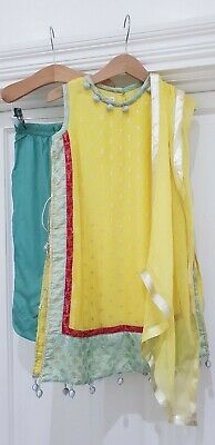 Minnie minors Hopscotch Girls Trouser Suit Outfit Eid Yellow Size 3 Years