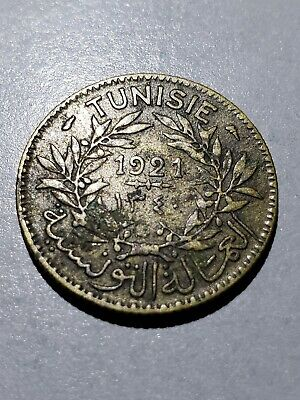 Old Coin: 1921 Tunisia 1 Franc #3