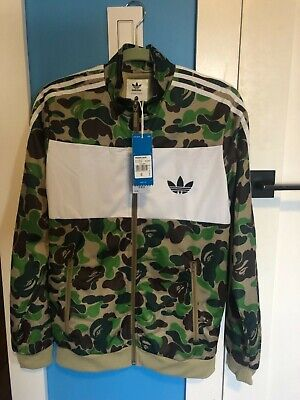 foto ufficiali e37f3 14623 ADIDAS X BATHING Ape Firebird Track Top Bape Jacket Green ...