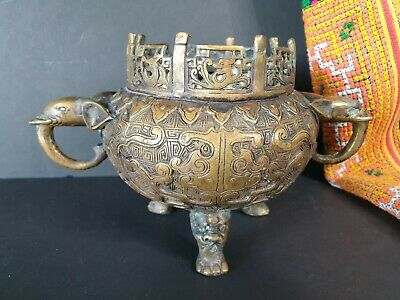 Old Chinese Bronze / Brass Incense Burner …beautiful collection and display....