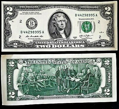 """Two Dollar Bill $2 Note, 2013 """" New York """", Free shipping in Canada"""