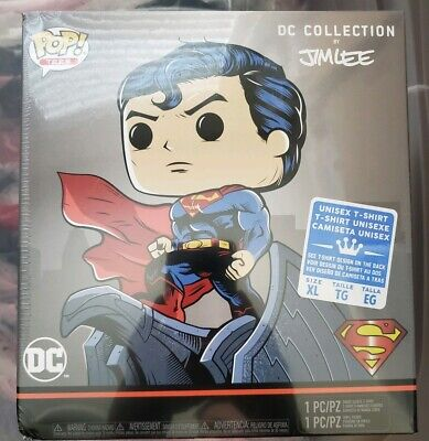 "Funko POP! + TEE DC Comics JIM LEE Exclusive ""SUPERMAN""XL T-Shirt NEW SEALED"