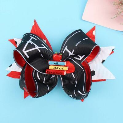 Black Red Hair Bows Back To School Clips Ribbons Bowknot Hairgrips for Girls