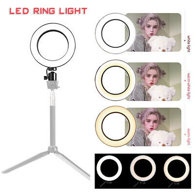 """6.3"""" LED Ring Light Kit with Stand Dimmable 5500K for Makeup Phone Camera CA"""
