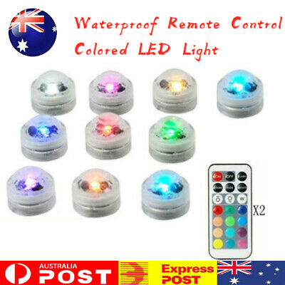 10x Waterproof Remote Control Colored LED Light Boundary Style EFX Accent AU