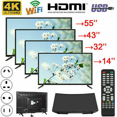 "32''/43""/55'' 4K HD Smart LED TV Wifi Ethernet Curved Screen Television Android"