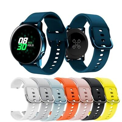 For Samsung Galaxy Watch Active Sport Wrist Band Strap Replacement Soft Silicone
