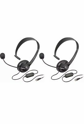 Pair Of Insignia Landline Phone Hands-Free Headset with Mic RJ9 Connector -