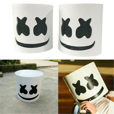 1X MarshMello DJ Mask Full Head Helmet Halloween Cosplay Bar Music Props Costu F