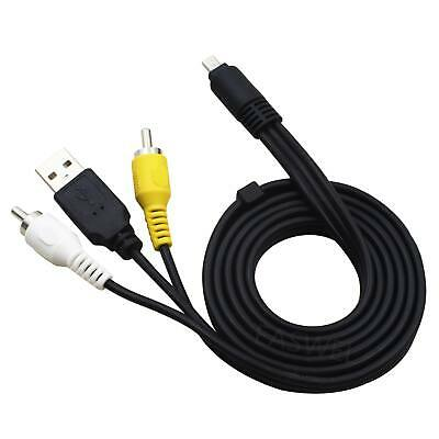 3in1 USB Charger Data+AV TV Cable Cord Lead For Samsung S1060 S1070 Camera