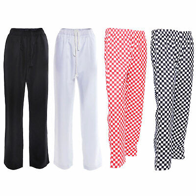 Chef Trousers Chef Red, Black And White Check Chef Pants Uniform Unisex
