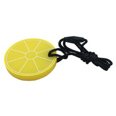 Useful Silicone Safety Baby Teether Lemon Teething Toddler Kids Chew Necklace YI