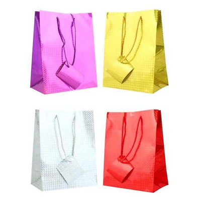 Holographic Gift Paper Bags Xmas Party Weddings Birthdays All Sizes And Colours