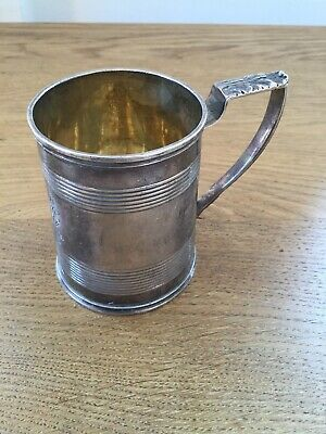 Antique Solid Silver Christening Mug - Tankard London 1818
