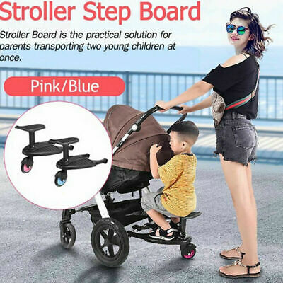 Safety Comfort Kids Wheeled Pushchair / Stroller Step Buggy Board Connector