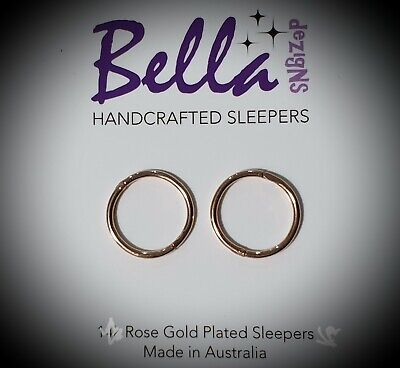 *SPECIAL* 12mm SMALL Rose Gold Plated Sterling Silver Sleepers