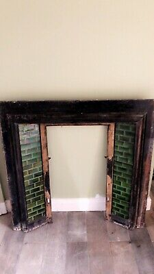 Edwardian Green Tile Fire