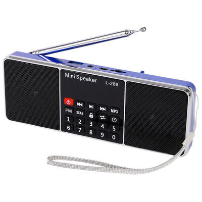 Mini Portable Rechargeable Stereo L-288 FM Radio Speaker LCD Screen Support Y3Q4