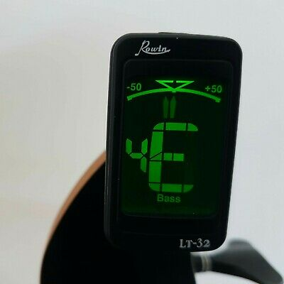 Bass Guitar Tuner - Clip on LED Electric Tuner including FREE Battery! FREE P&P