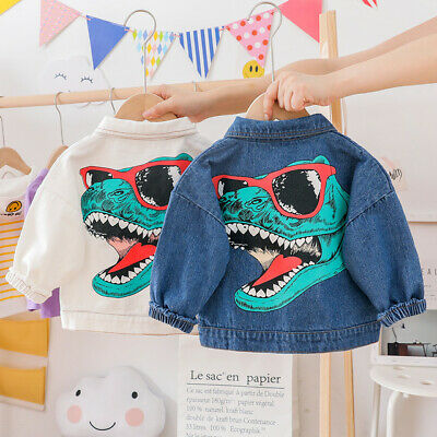 NEW Toddler Kids Boys Ripped Distressed Denim Jacket  Fashion Jeans Coat Tops