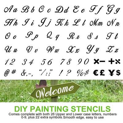40pcs Letter Number Symbol Drawing Painting Stencils for Wood Planner Notebook