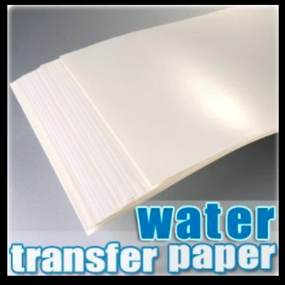 Water Slide Decal Paper A4 INKJET Waterslide Transfer Paper – Various pack sizes