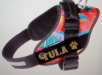 Julius-K9 Embroidered Harness Labels.  **GLOW IN THE DARK THREAD**