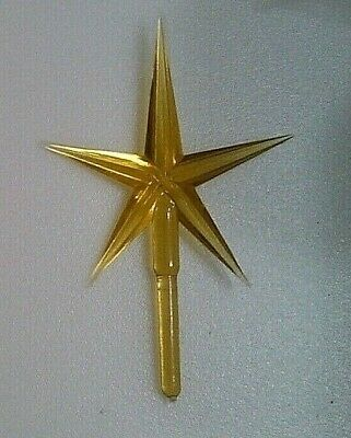 "Large Gold  4 "" Star  Ceramic Christmas Tree Topper  Lights"