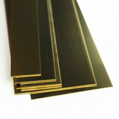 "K&S Metals BRASS STRIP 12"" lengths (305mm) Precision Metal Model Making Sheet"