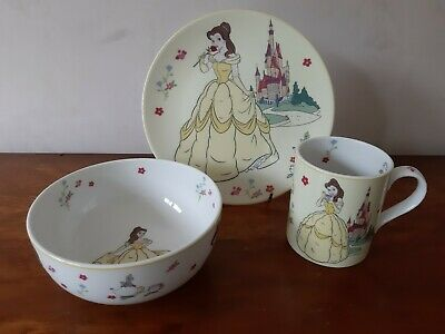 Walt Disney  - Disney Princess 'Belle' Mug, Bowl And Plate Set.