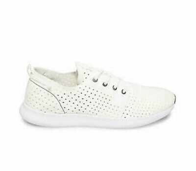 7a32a6506ab NEW - STEVE MADDEN Men's 'P-CROMER' LACE UP NUBUCK White SNEAKERS ...