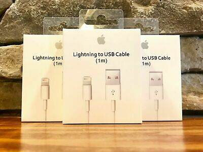 3 pack Original OEM Apple iPhone X 8 7 6S plus 5 Lightning USB Cable Charger 1M