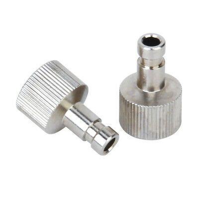 "2Pcs 1/8"" fittings Airbrush Quick Disconnect Coupler Hose Connector Release M5R2"