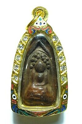 Phra Kring Klong Takien Old Ancient Clay Thai Buddha Amulet