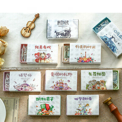 Journal Vintage Forest Stickers Retro Matchbox Scrapbooking    Paper Sticker