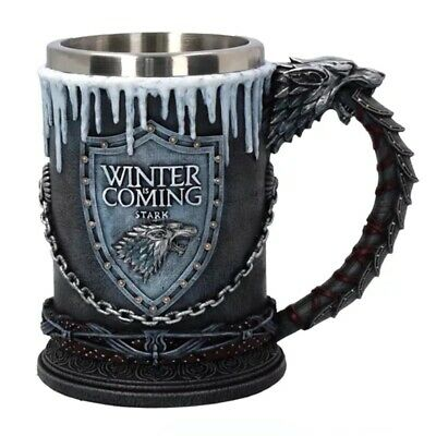 Game of Thrones House Stark Mug The Seven Kingdoms Goblet 3D Mug Resin Coffee