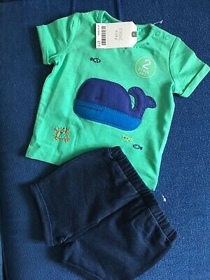NEXT Baby Boys Outfit Whale Top+Shorts 0-3 months BNWT