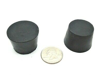 "#6.5 Solid Rubber Stoppers. Lab Tapered Plug Bung Cork. Fits 1 1/16"" - 1 3/8 ID"