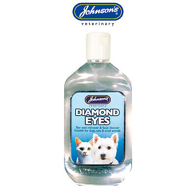 Johnson's Diamond Eyes Tear Stain Remover for Cats Dogs & Small Animals - 125ml