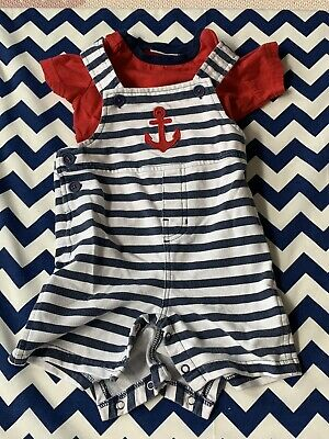 First Impressions Baby Boy 12 Month 2-piece Outfit Anchor Themed