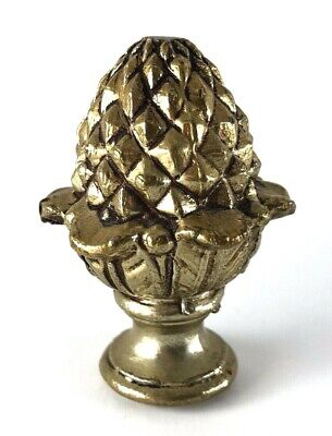 """Vintage Brass Finial Pineapple, Pine Cone, Acorn 2 1/4"""" Tall Great Condition!!"""