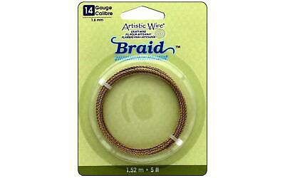 Artistic Wire Awb-14B-130-5Ft  Braid 14Ga 1 6Mm Tarnish Brass 5Ft