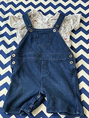 First Impressions Baby Boy 24 Month Outfit 2-piece Blue Overall