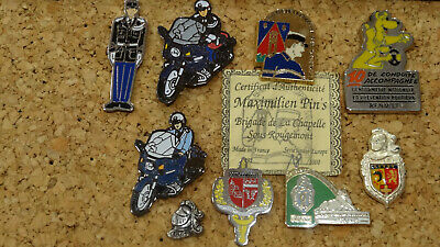 Lot de 9 pin's gendarmerie