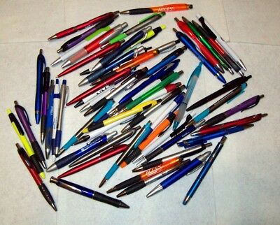 BallPoint Pen Lot 60 Promotional Ball Point Pens School, Home, Office, All NEW
