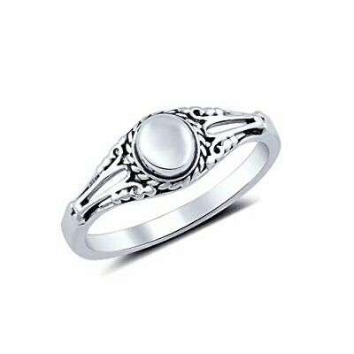 Sterling Silver Half Dome Antique Style Ring (Size 4-11)