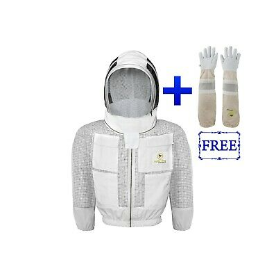Safta Bee 3 Layers Ventilated Beekeeping Jacket With Fencing Veil